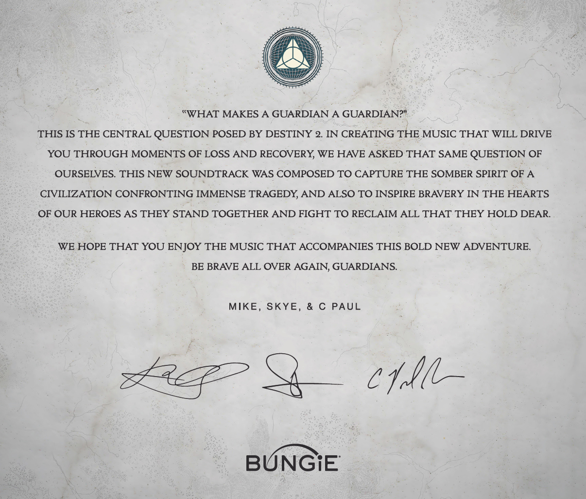 This Week At Bungie – 09/07/2017 > News | Bungie net