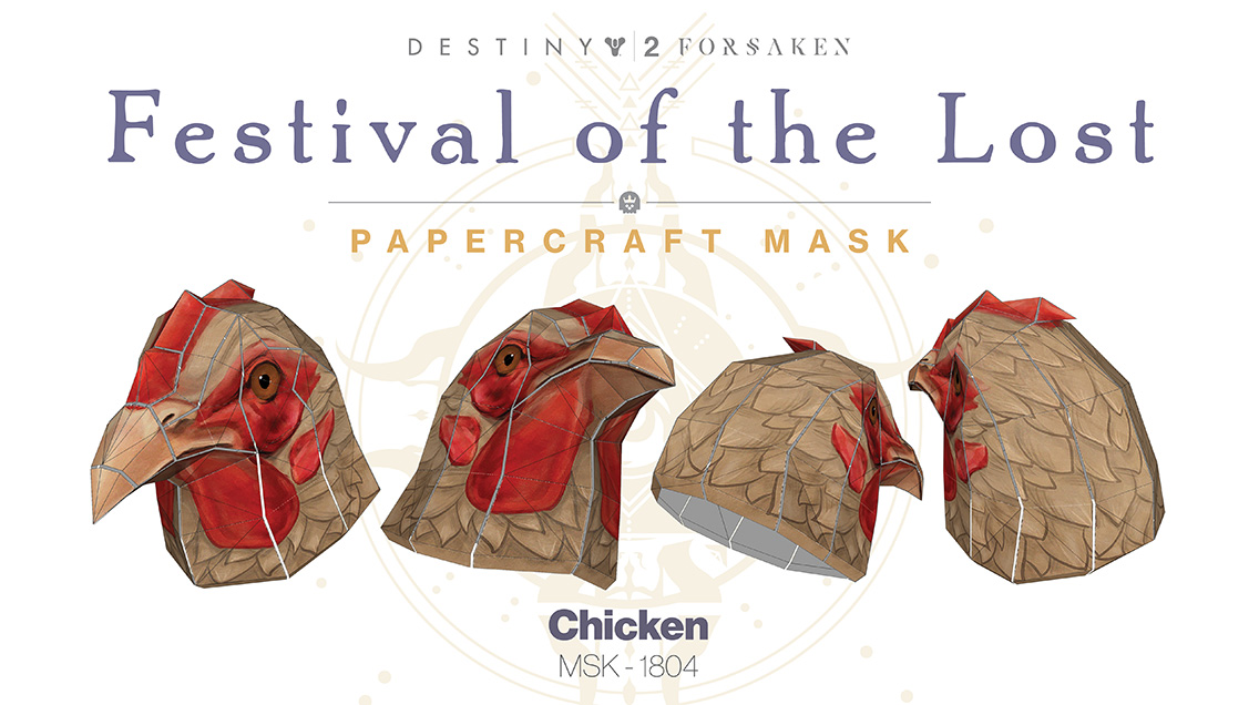 If Youre Eager To Change Your Look Further A Three Pack Bundle Of Papercraft Mask Templates Will Be Available On The Bungie Store Day Before Festival