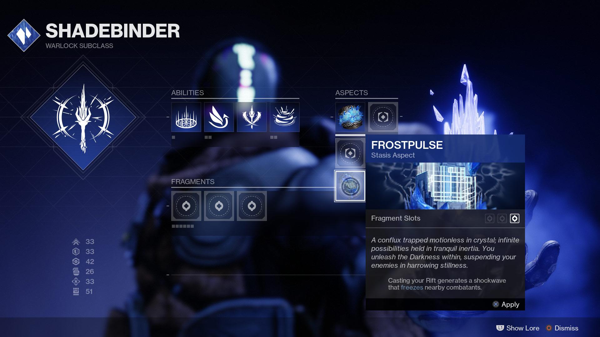 Warlock Stasis Subclass aspects EN - Stasis Spotlight: Warlock Shadebinder