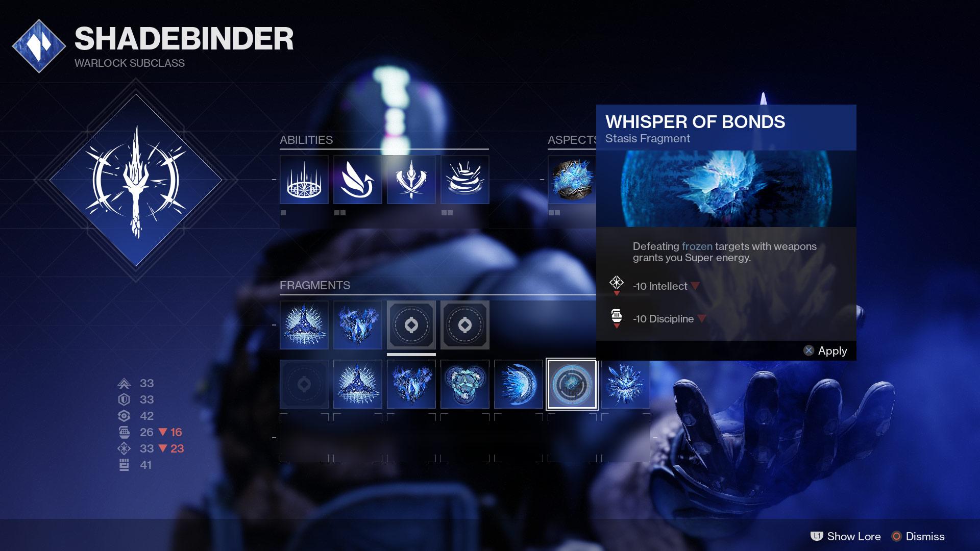 Warlock Stasis Subclass fragments EN - Stasis Spotlight: Warlock Shadebinder