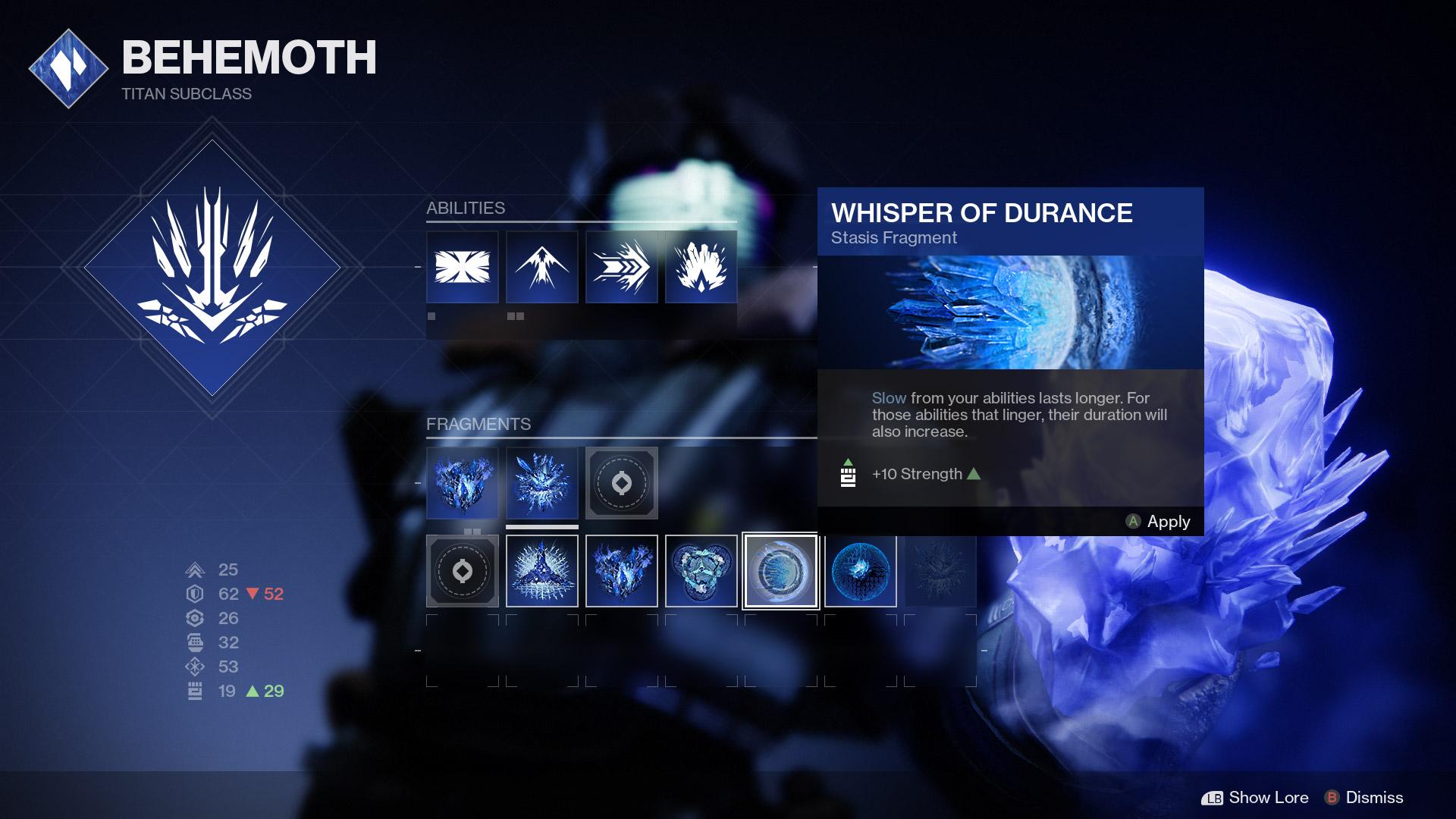 Titan Stasis Subclass fragments EN - Stasis Spotlight: Titan Behemoth
