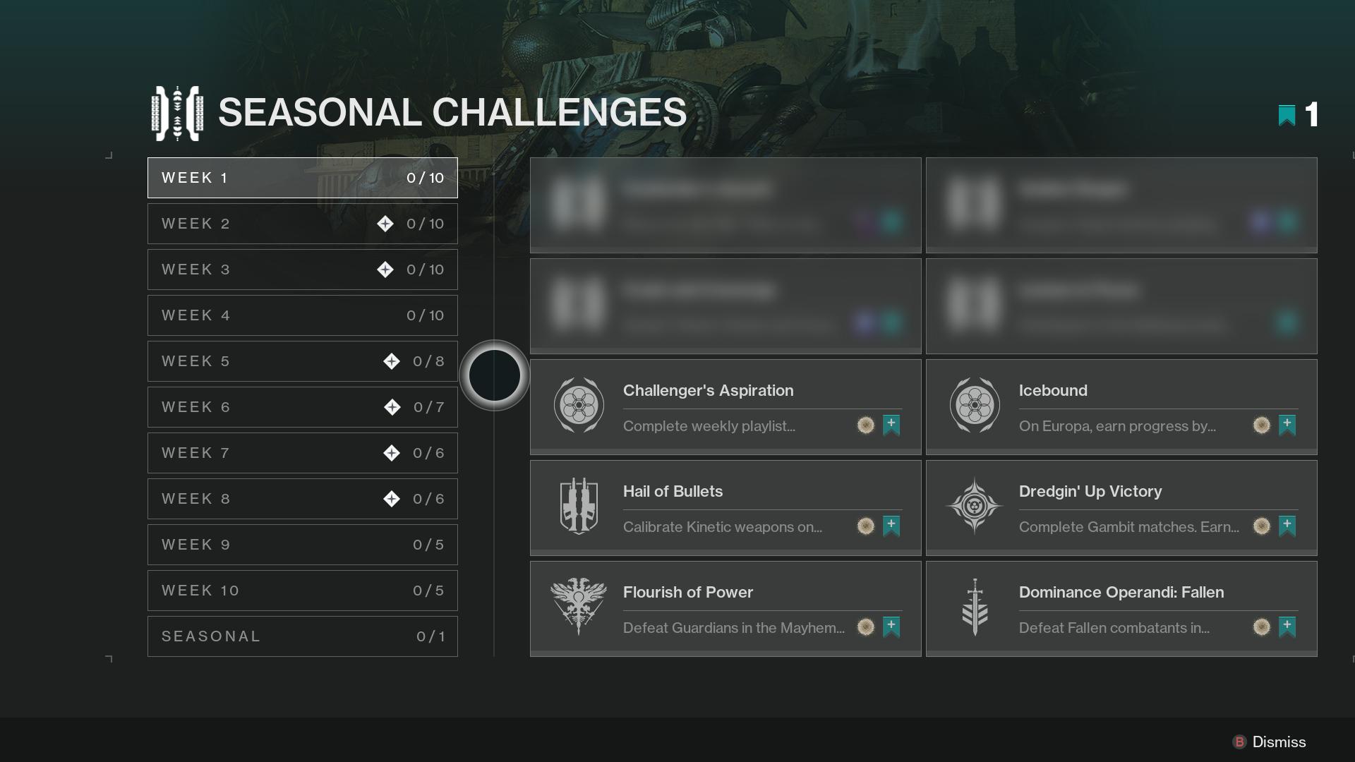 Destiny 2 expone sus Desafíos de Temporada, un cambio importante repleto de recompensas 1